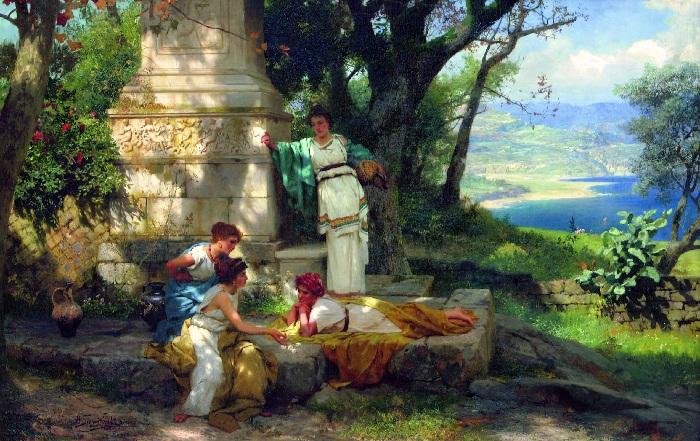 Игра в кости. (1899 год). Автор: Генрих Семирадский.