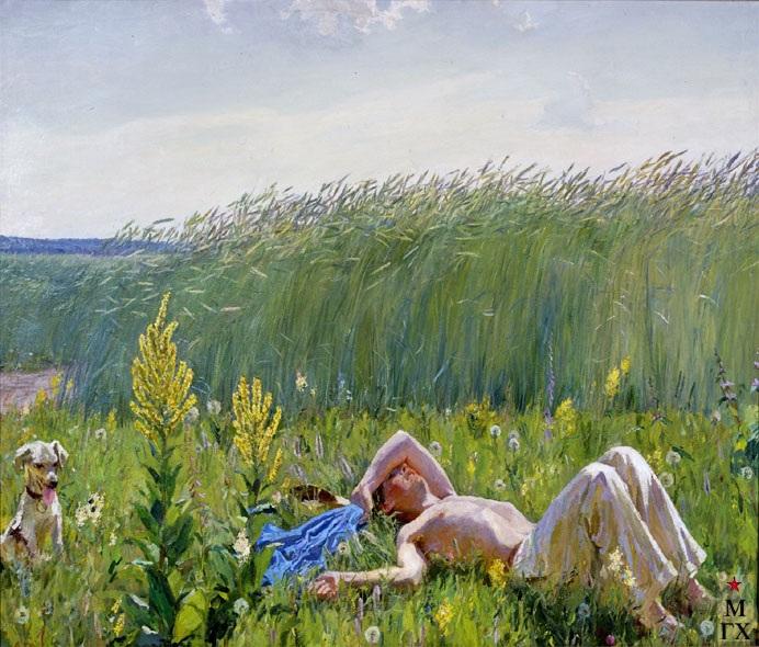 «Юность». (1953-1954 г.г.) Автор: А.А.Пластов.