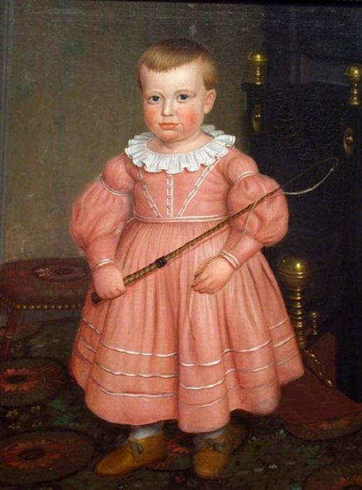 Маленький мальчик с хлыстом. Неизвестный художник. 1840-е годы.