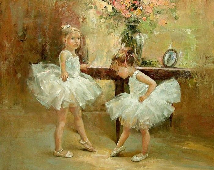 Юные балерины. Из цикла «Мир детства» Инессы Морозовой.
