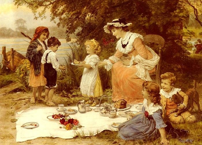 Детский пикник. Автор: Фредерик Морган.