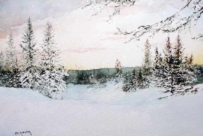 Зимние акварели от Ken Marsden.