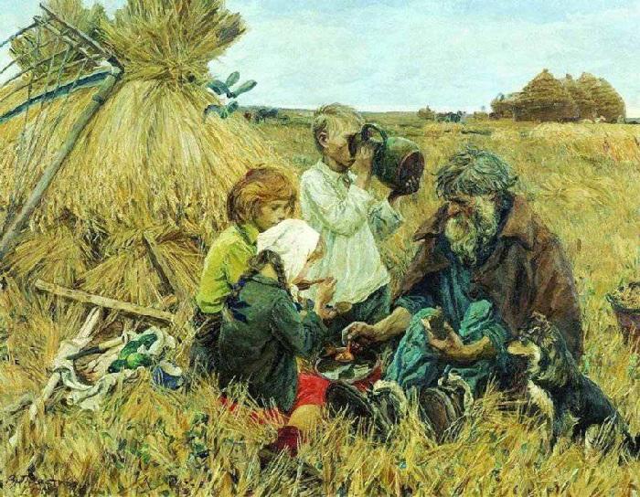 «Жатва». (1945 год). Третьяковская галерея. Автор: А.А.Пластов.