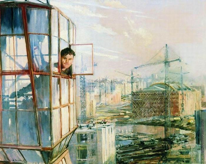 Район завтрашнего дня (1957 год). Автор: Юрий Пименов.