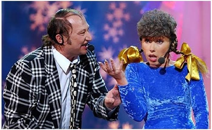 Гальцев и Елена Воробей в юмористической миниатюре.