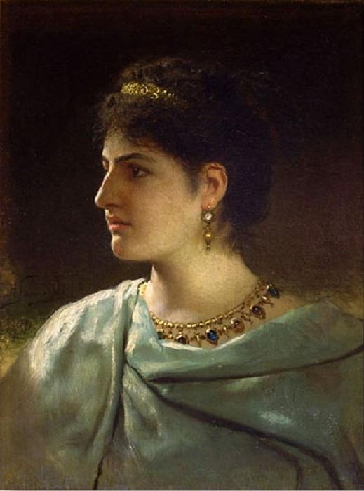 «Портрет молодой римлянки» (1890 год). Автор: Генрих Семирадский.