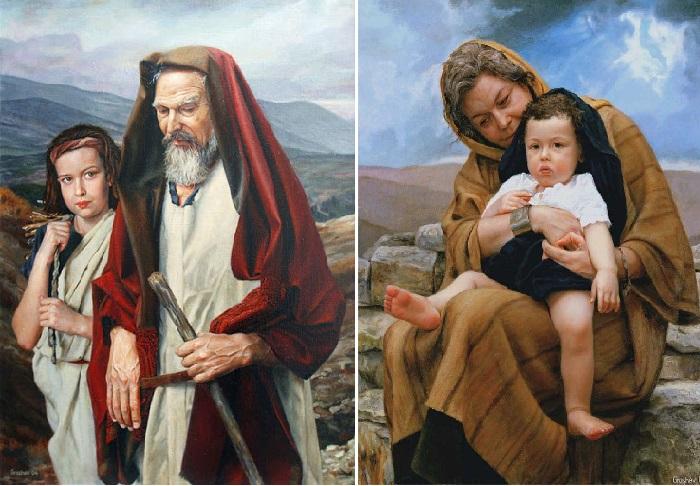 Авраам и Исаак. / Сара и Исаак. Автор: Вячеслав Грошев.