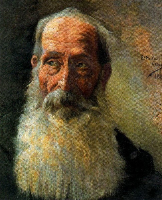 «Старость». Автор: Сальвадор Диас Игнасио Руис де Олано.