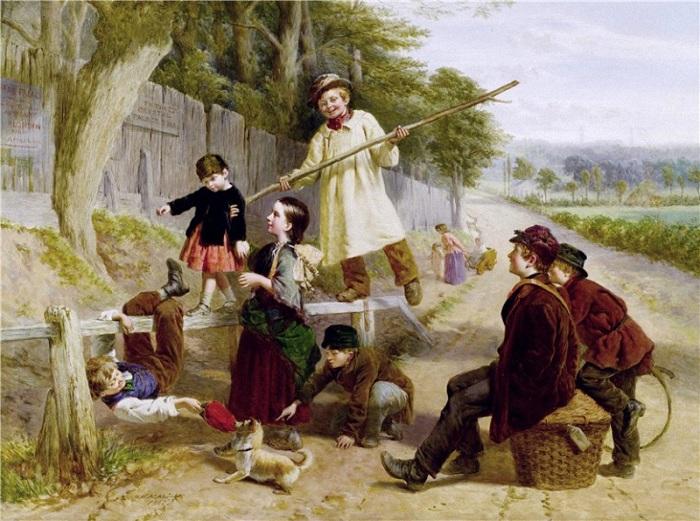 Уильям Генри Найт (1823-1863). Англия. Соперничество с блондином. 1862 г.