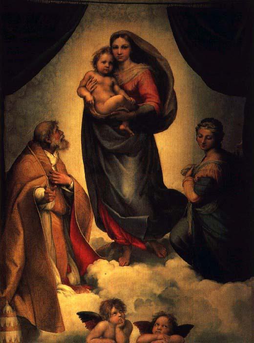 Сикстинская Мадонна.(1515–1519 гг). Автор: РафаэльСанти (1483–1520).