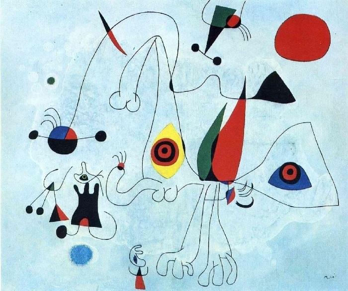 Абстрактное искусство от  Жоана Миро.