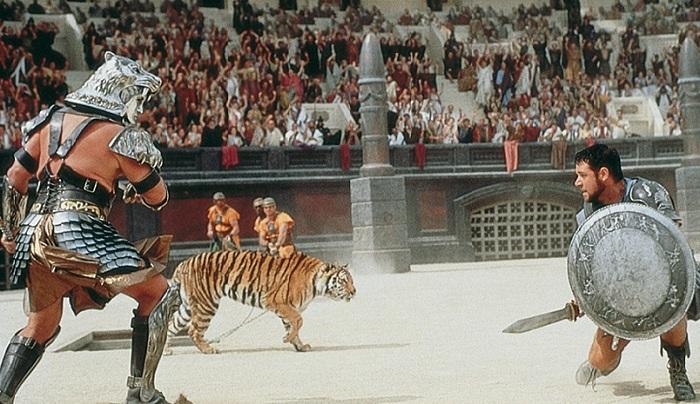 Кадр из кинофильма «Гладиатор» (2000).