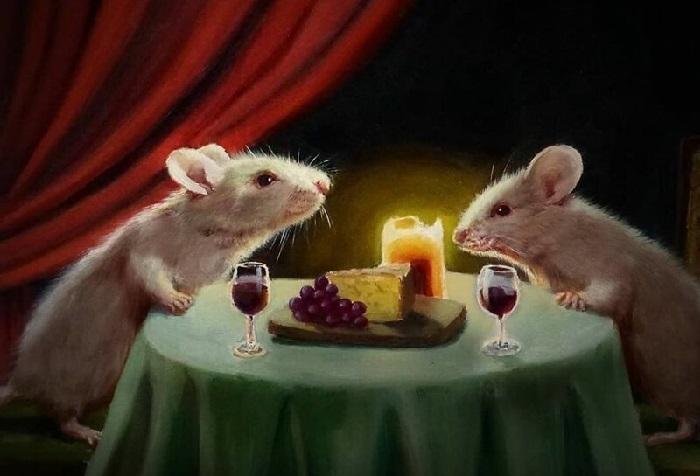 Романтический ужин. Автор: Lucia Heffernan.