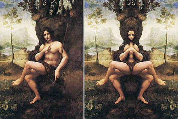 Зеркальный код Леонардо да Винчи. Иоанн Креститель.