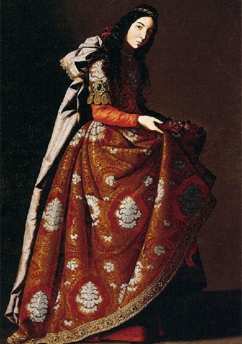 Святая Касильда Толедская, 1640-1645. Музей Тиссен-Борнемиса, Мадрид.