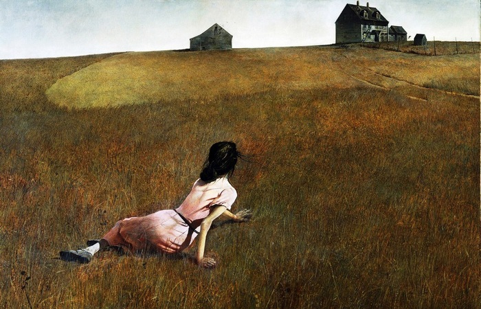 «Мир Кристины». 1948 год). Автор: Эндрю Уайет.