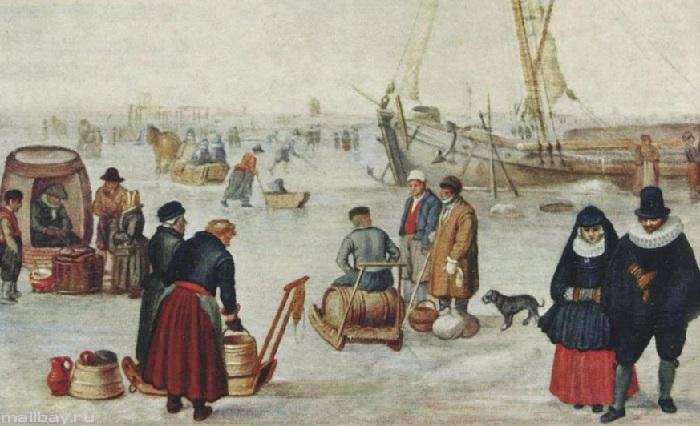 Ледовый пейзаж.(Фрагмент 1).