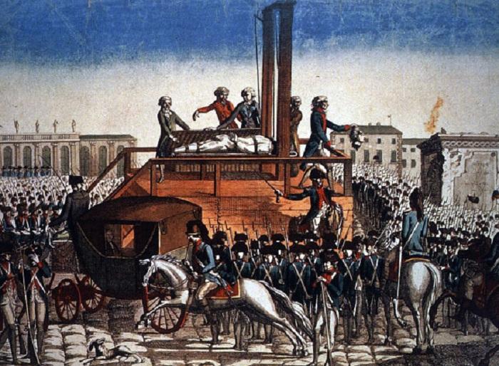 Казнь Людовика XVI. | Фото: livejournal.com