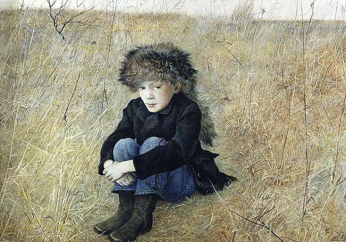 Далекое. (1952 год),(портрет сына). Автор: Эндрю Уайет.