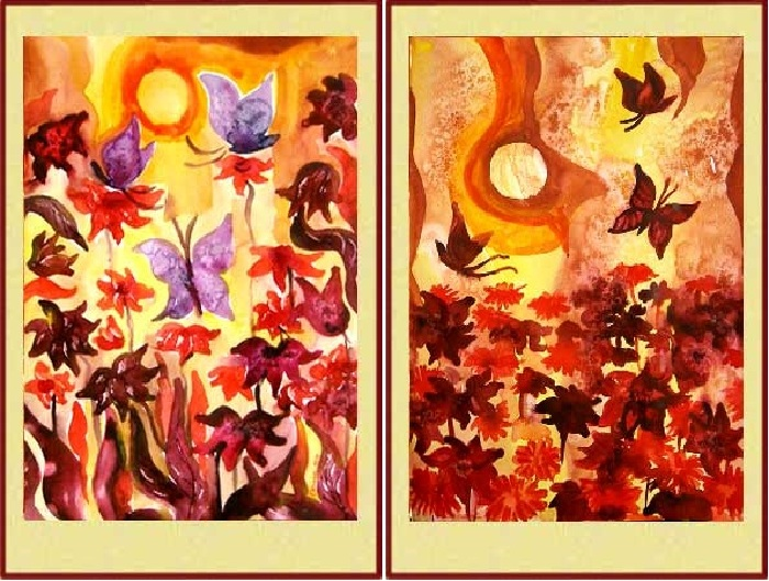 Лечебная живопись, нормализующая формулу крови, от Оксаны Бодиш. | Фото: astra-lit.com.