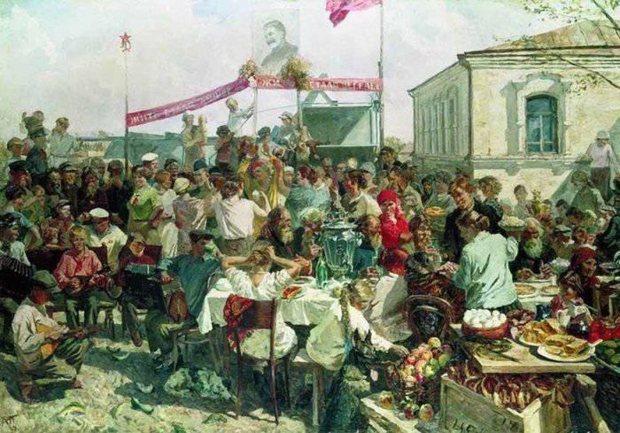 «Колхозный праздник» 1938 Государственный Русский музей. Автор: А.А.Пластов.