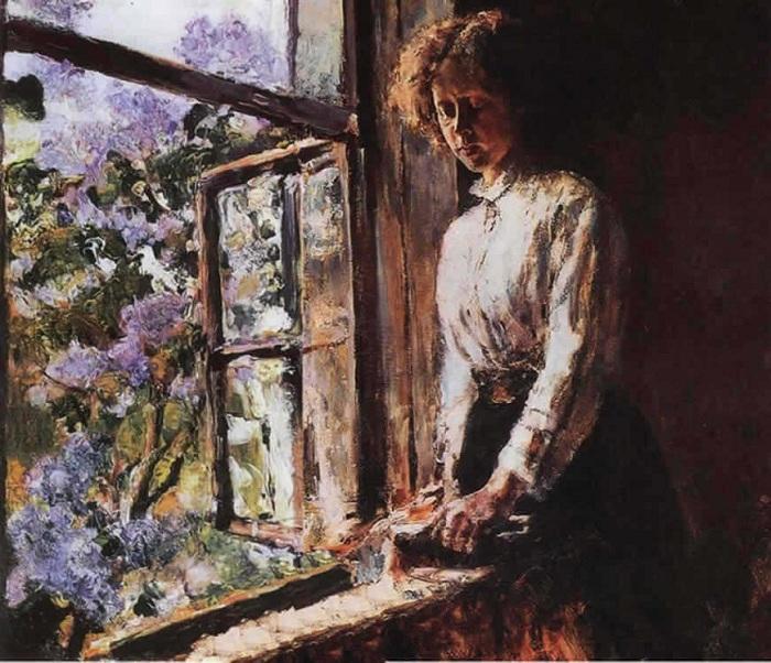 У окна. Портрет О.Ф. Трубниковой. Автор: Валентин Серов.