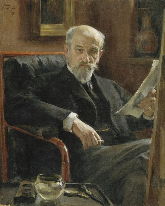 Портрет художника А.П. Соколова. (1898 год). Автор: Осип Эммануилович Браз.
