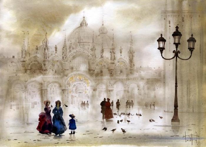 Венеция. Туманные пейзажи от Светланы и Сабира Гаджиевых.
