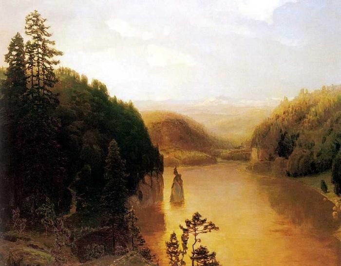 Озеро в горной Башкирии. Автор: Аполлинарий Васнецов.