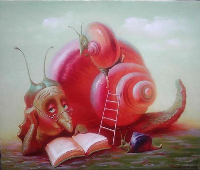 В гостях у бабушки. Сказочные иллюстрации от Валентина Рекуненко.