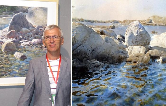 Художник-маринист пишет реалистичные акварели, которые сложно отличить от фото.