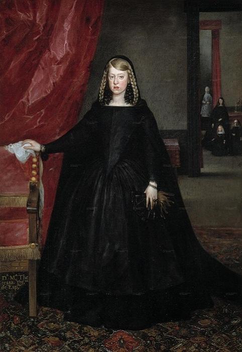 Портрет Маргариты Австрийской (1665 — 1666). Автор: Хуан Батисто Мазо де Мартинес — зять и ученик Веласкеса занявший после него должность придворного художника.