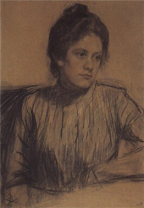 Этот портрет Юлии Прошинской написан Кустодиевым почти сразу после знакомства с ней. Государственный Русский музей.