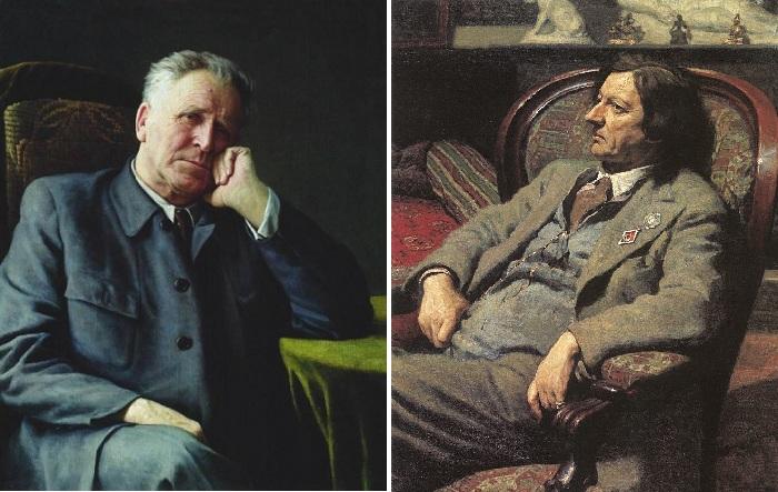 Портрет академика И.П.Бардина. / Портрет мужчины в кресле. Автор: Александр Лактионов.