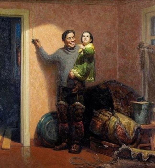 Переезд на новую квартиру. Автор: Александр Лактионов.