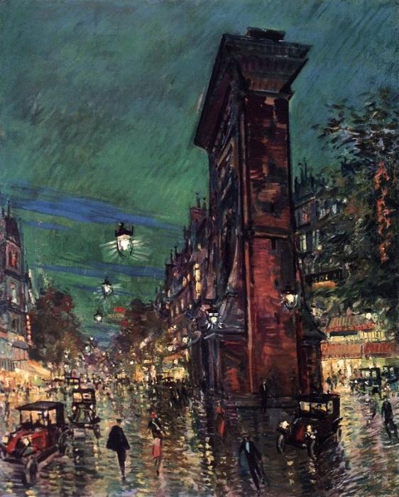 Париж. Сен-Дени. 1930-е годы.  Автор Константин Коровин.