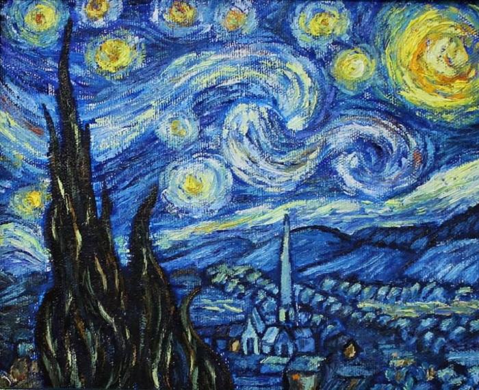 «Звездная ночь». Автор: Винсент Ван Гог.