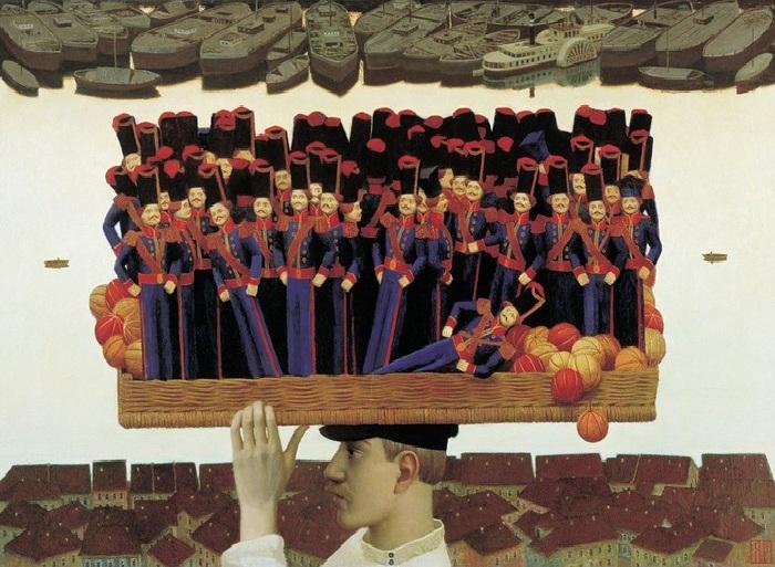 Продавец игрушек. 1994-2001 г.г. Живопись от Андрея Ремнева.