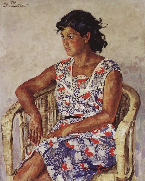 Портрет Хулиты Перекаччо. 1939 год.  Автор: П. П. Кончаловский.