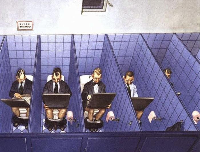 Уединенное место. Сатира от Gerhard Haderer.