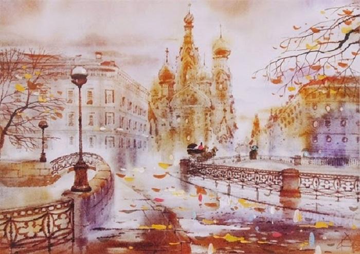 Санкт-Петербург. Из цикла: Питерские пейзажи  Светланы и Сабира Гаджиевых.