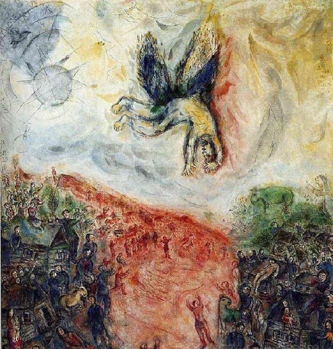 «Падение Икара». Автор: Марк Шагал.