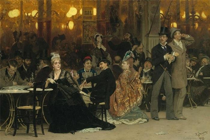 «Парижское кафе». 1875г. И. Репин
