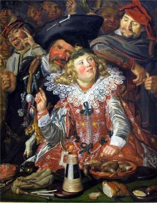 Весёлое общество. (1615 год.) Автор: Франс Хальс.
