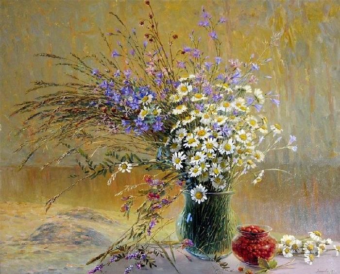 Полевые цветы. Автор:  Марина Захарова.