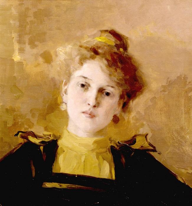 Портрет молодой женщины. (1890 год.) Автор: Осип Эммануилович Браз.