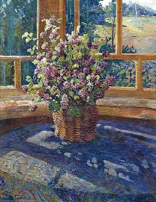 Букет клевера на столе. Автор: Игорь Грабарь.