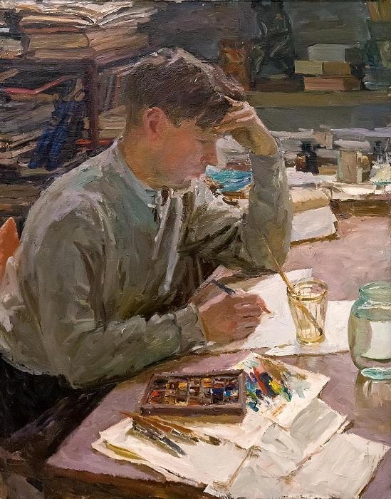 Из серии «Великие художники». Автор: А.А.Пластов.