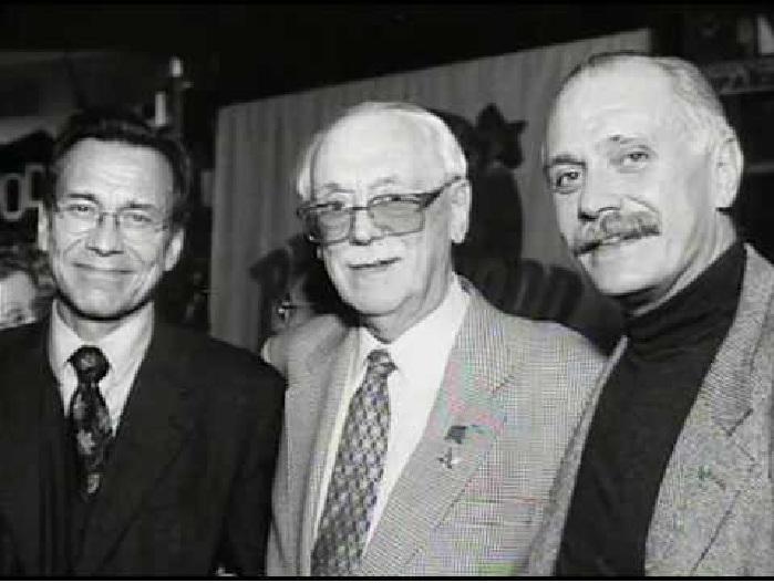 Андрей Кончаловский, Сергей Михалков и Никита Михалков.