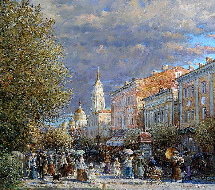 Набережная в Рыбинске. Автор: Александр Шевелев.